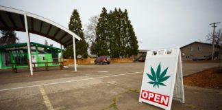 New marijuana businesses like this dispensary in Springfield, Oregon have popped up due to a recent law change legalizing pot for recreational purposes.
