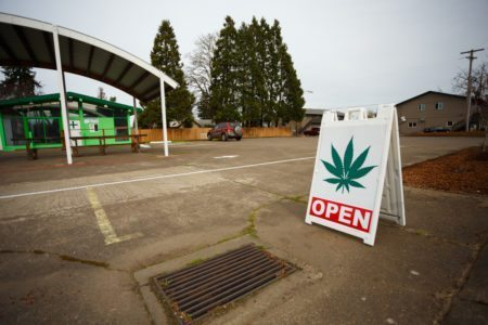 New marijuana businesses like this dispensary in Springfield, Oregon have popped up due to a recent law change legalizing pot for recreational purposes. Joshua Rainey Photography | Shutterstock.com