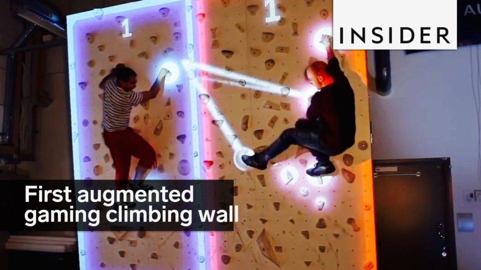The First Augmented Reality Climbing Wall