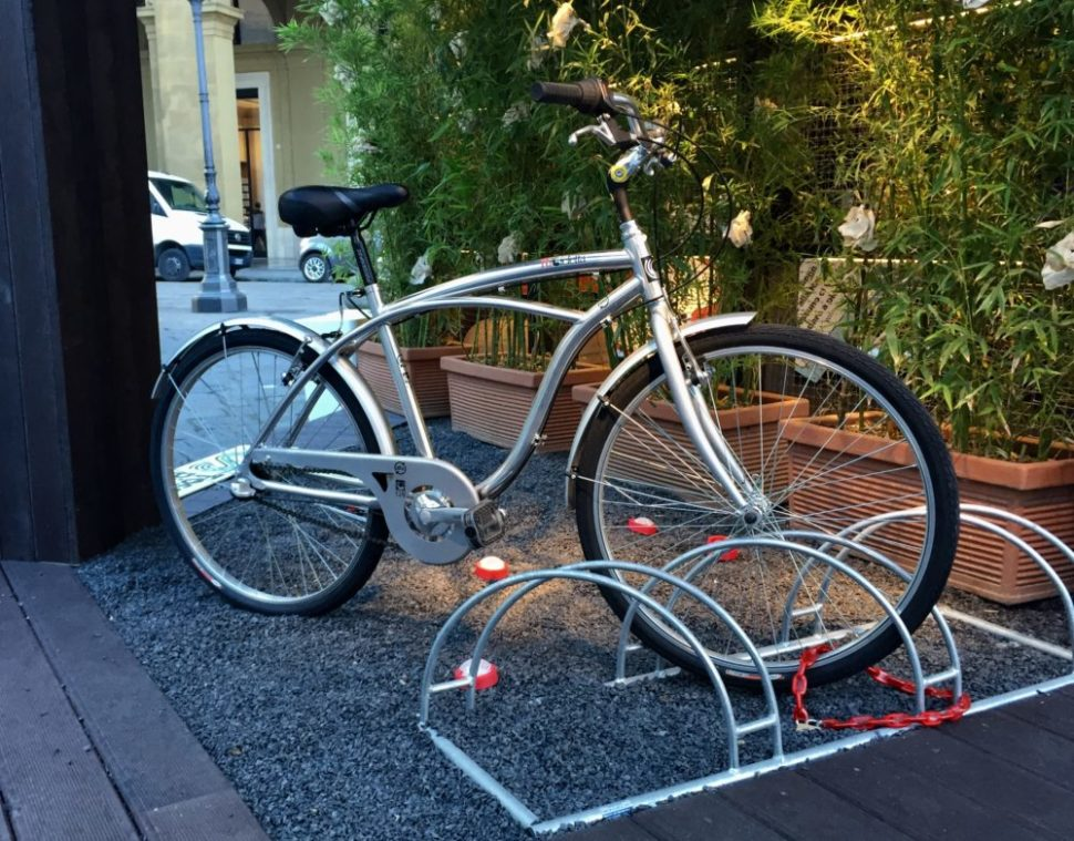 Quadrifoglio's fully-functional bike made using recycled cans collected by the company.