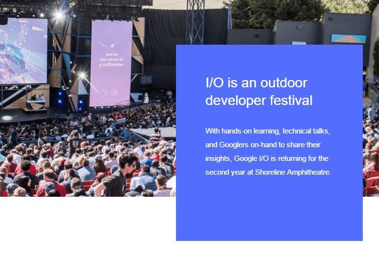 Google IO is now a ... festival