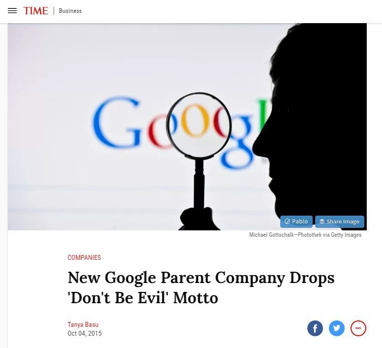 Google dont be evil