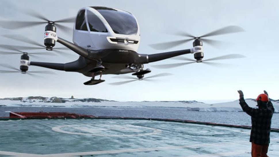 The Ehang 184, automated flying passenger drone | Ehang.com