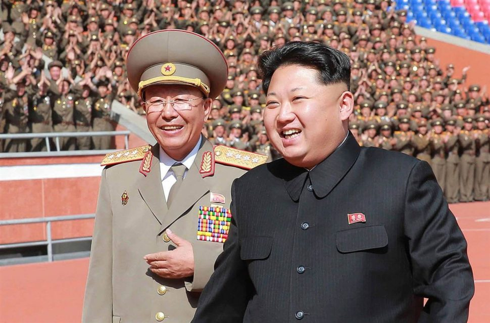 Kim Jong Un and ex-Army Chief Ri Yong-Gil | KNS/AFP Getty