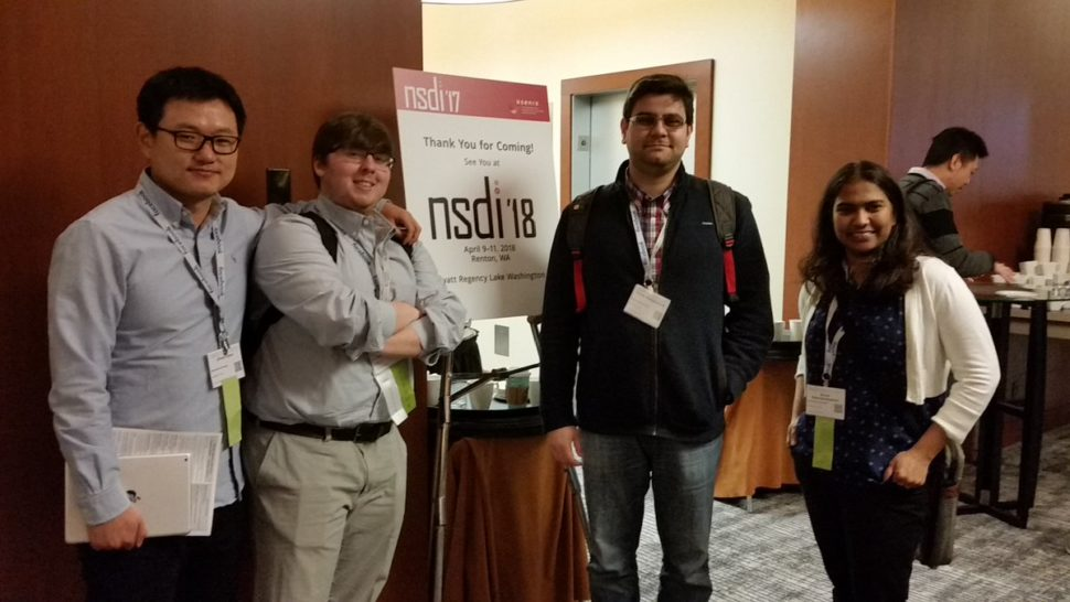 A view from Usenix NSDI 2017 (of Stony Brook University CS) | @Usenix on Twitter | Usenix.com