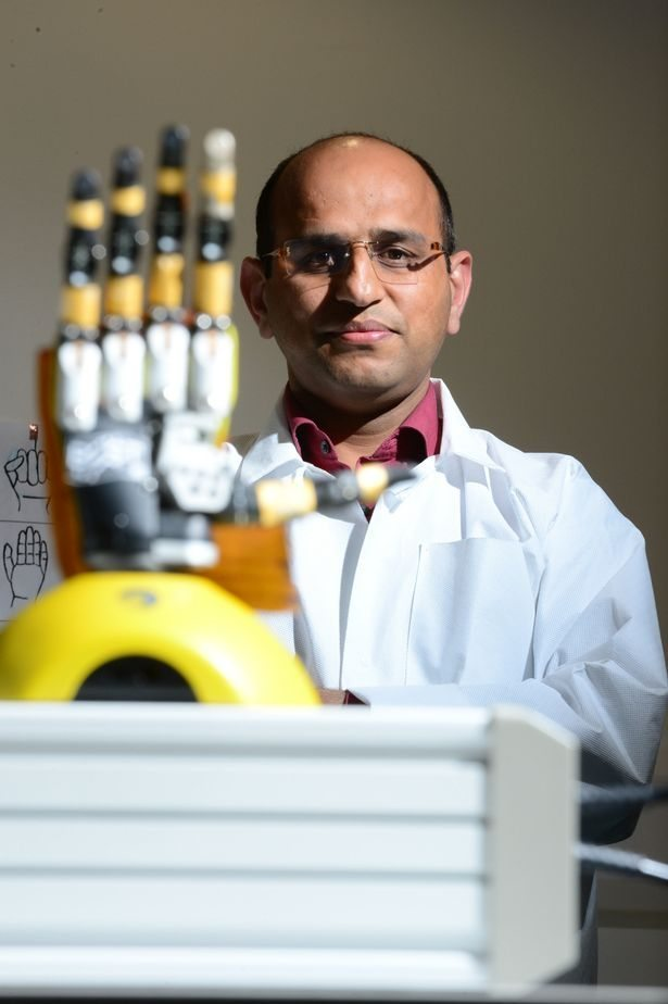 Dr. Ravinder Dahiya and his 3D printed hand | SWNS.com