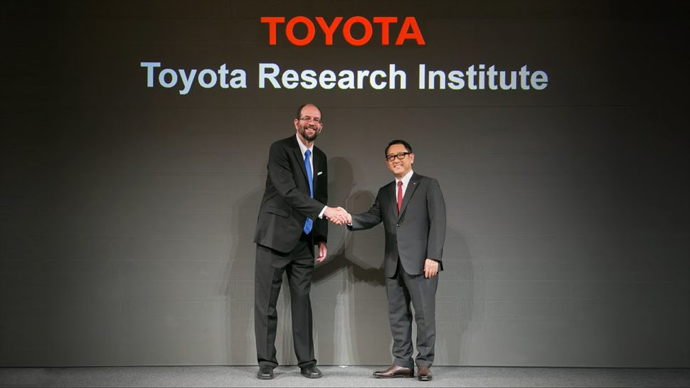 Dr. Gill Pratt TRI Executive Technical Advisor (left) Toyota President Akio Toyoda (right) | Toyota.com | YouTube.com