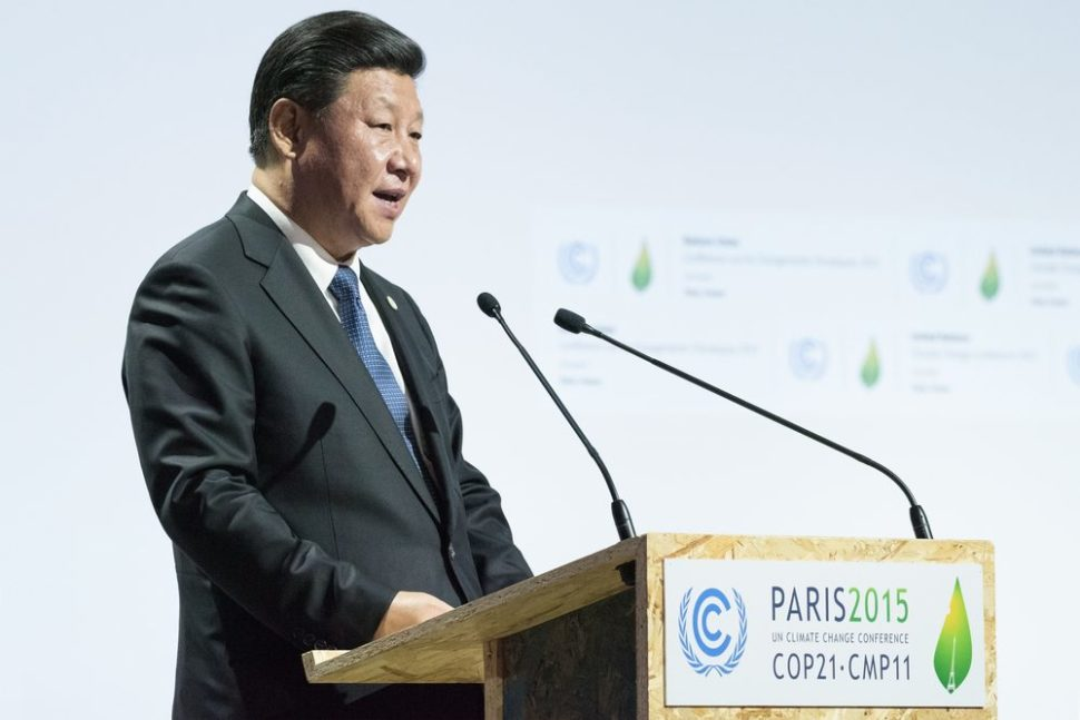 Chinese President Xi Jingping at Paris COP21