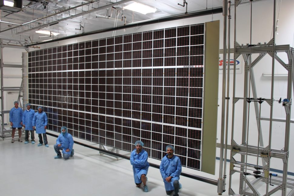 Roll Out Solar Array (ROSA) technology undergoes testing. | Deployable Space Systems, Inc. (DSS)