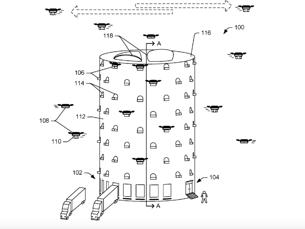 Amazon Drone Tower Patent | Amazon