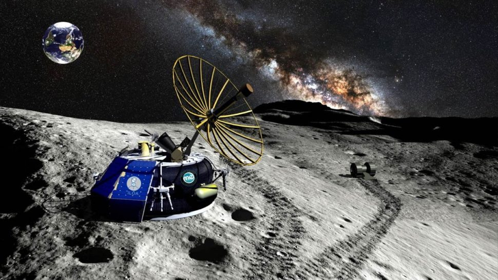 Rendering of Moon Express's MX-1E lander | MoonExpress.com
