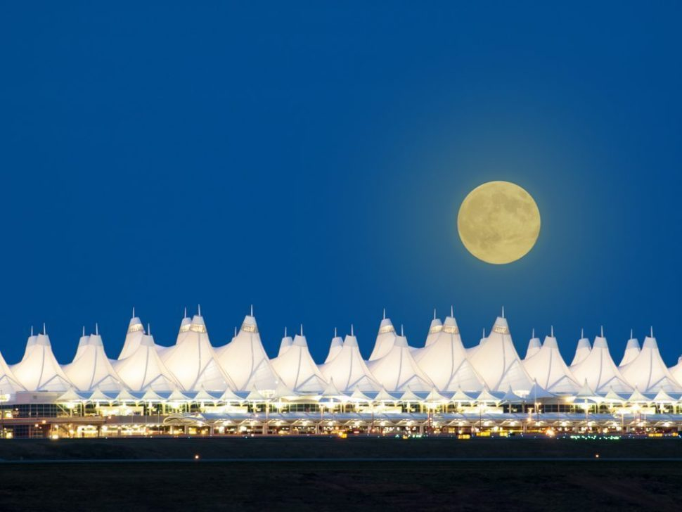 Denver International Airport at Night | Arina P. Habich | Shutterstock.com
