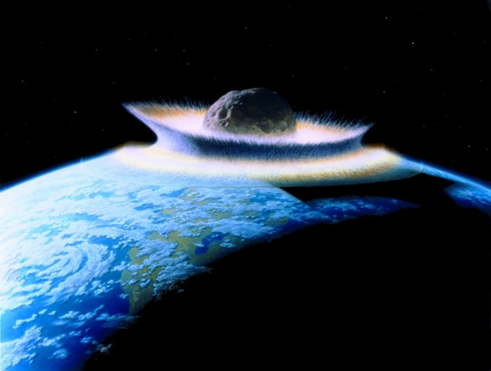 Planetoid crashing into primordial Earth | Wikimedia Commons