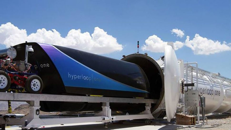 The Hyperloop pod, XP-1, being loaded to the DevLoop. | Hyperloop One