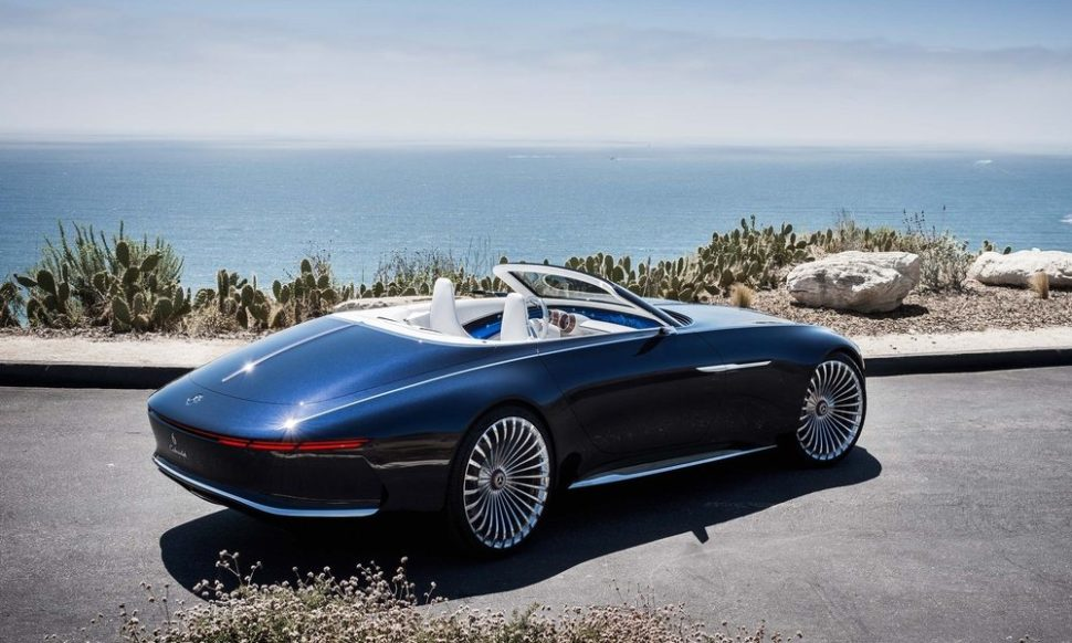 Mercedes Maybach 6 Cabriolet Top Luxury Car: Mercedes Goes Long And Electric With Its Maybach Vision 6