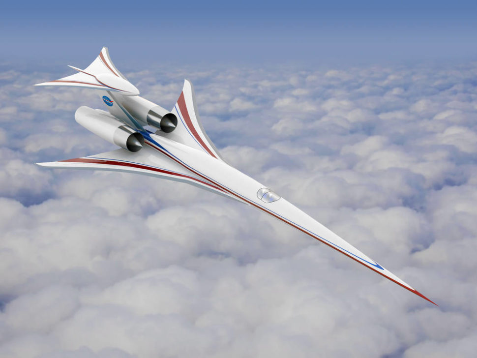 NASA low-decibel supersonic passenger jet concept | NASA