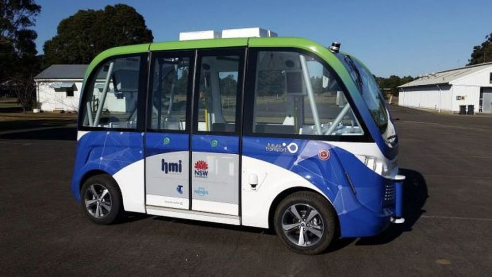 NSW Driverless Bus | Image Courtesy of The Sydney Morning Herald | smh.com.au