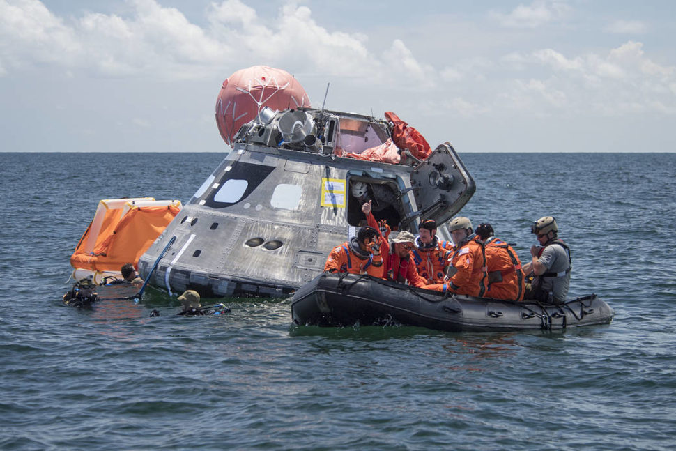 7-13-17 U.S. Coast Guard - Galveston Marine Base | ICEE-HOT, is being conducted by the Orion and Ground Systems Development and Operations programs along with the U.S. Department of Defense, to evaluate procedures being developed to get astronauts out of the Orion crew module upon returning to Earth. Astronauts involved in the testing include: Dan Burbank, Victor Glover, Mike Fincke and Stan Love.  | Josh Valcarcel | NASA