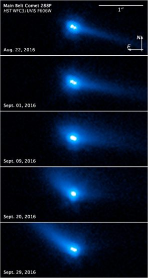 Binary asteroid system 288P