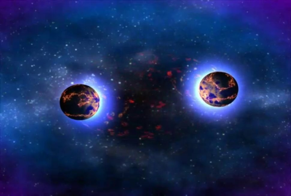 Artist illustration of the merger of two neutron stars. | NASA | Goddard Space Flight Center | Dana Berry
