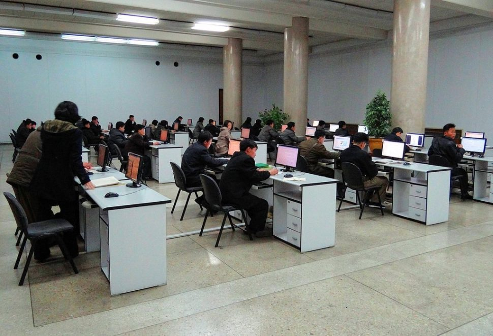 A computer room equipped with access to Kwangmyong at the Grand People's Study House in Pyongyang | Wikipedia.org