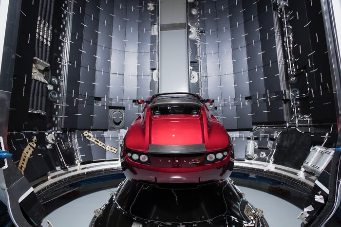 Falcon Heavy's payload, Elon Musk's 2008 midnigh-cherry-red Tesla Roadster