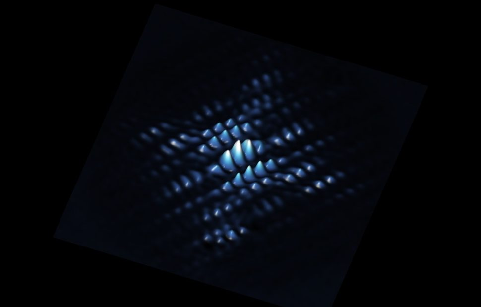A scanning tunneling microscope shows a quantum bit from a phosphorus atom precisely positioned in silicon. | University of New South Wales