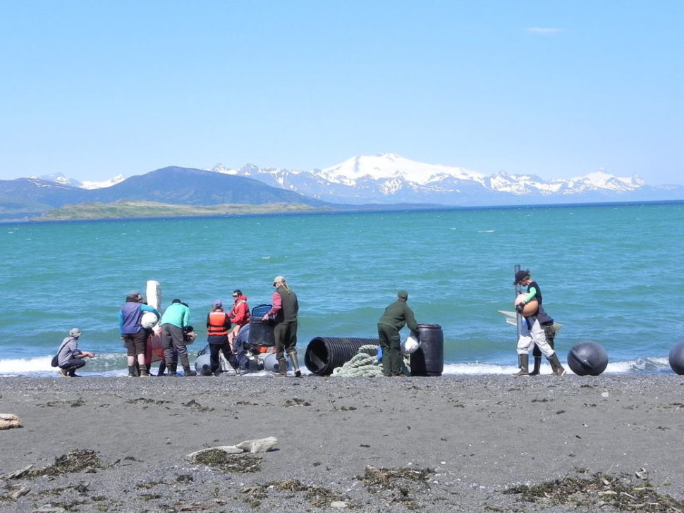 Removing the debris and garbage | Katmai National Park and Preserve