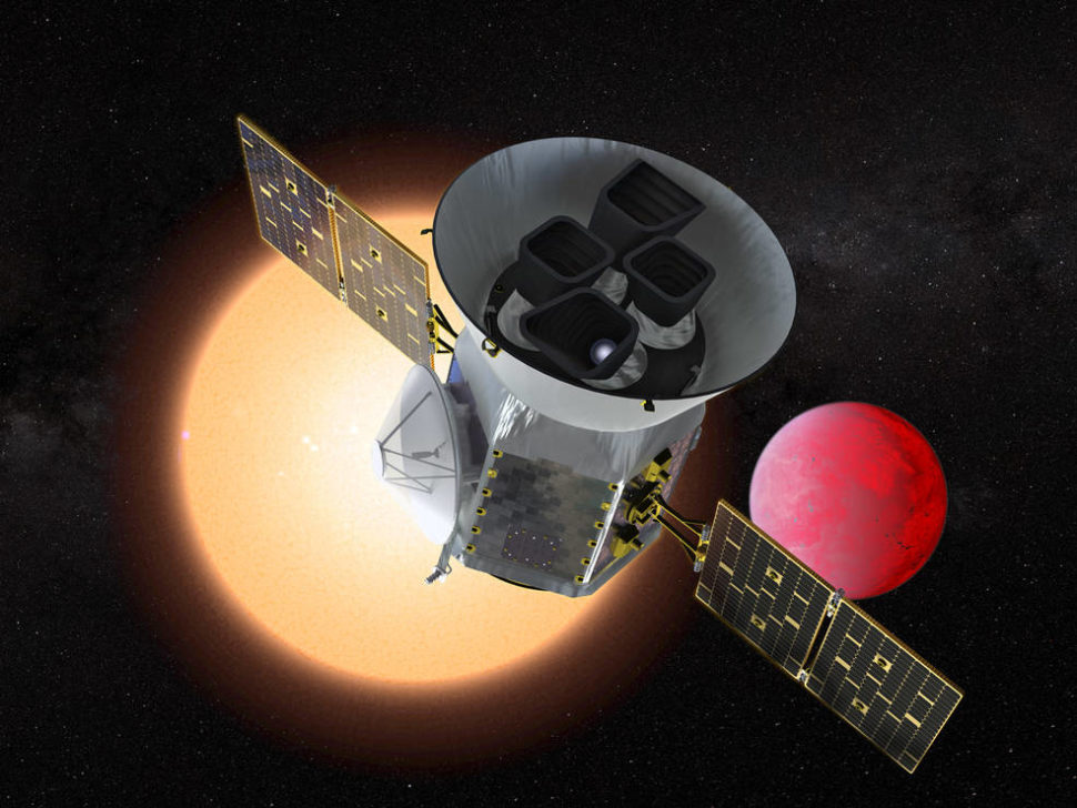 The Transiting Exoplanet Survey Satellite (TESS) is a NASA Explorer mission launching in 2018 to study exoplanets, or planets orbiting stars outside our solar system. TESS will discover thousands of exoplanets in orbit around the brightest stars in the sky. -from source. | NASA GSFC