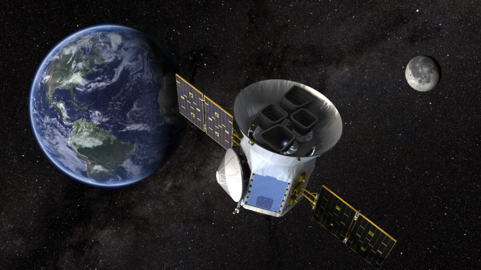 Computer visualization of TESS satellite | Image courtesy of NASA.gov