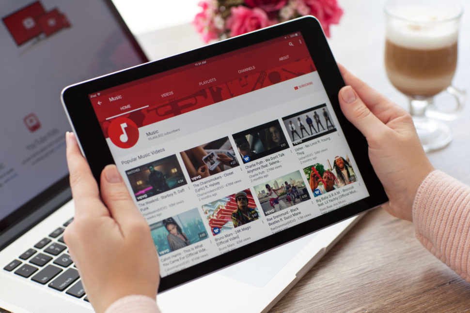 YouTube being accessed from a tablet. | Denys Prykhodov | Shutterstock