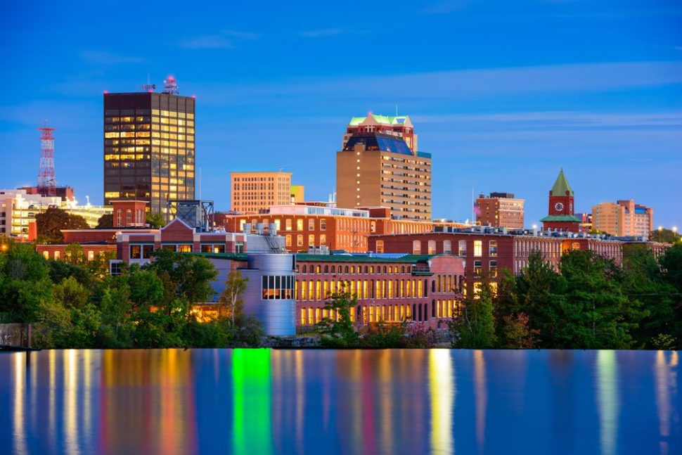 Skyline of Manchester, New Hampshire. | Sean Pavone | Shutterstock.com