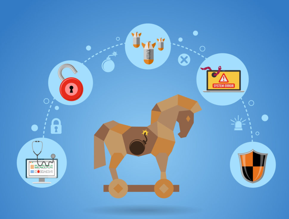 A concept as old as history, the trojan horse virus has been a symbol of cyber espionage. | Telnov Oleksii | Shutterstock.com
