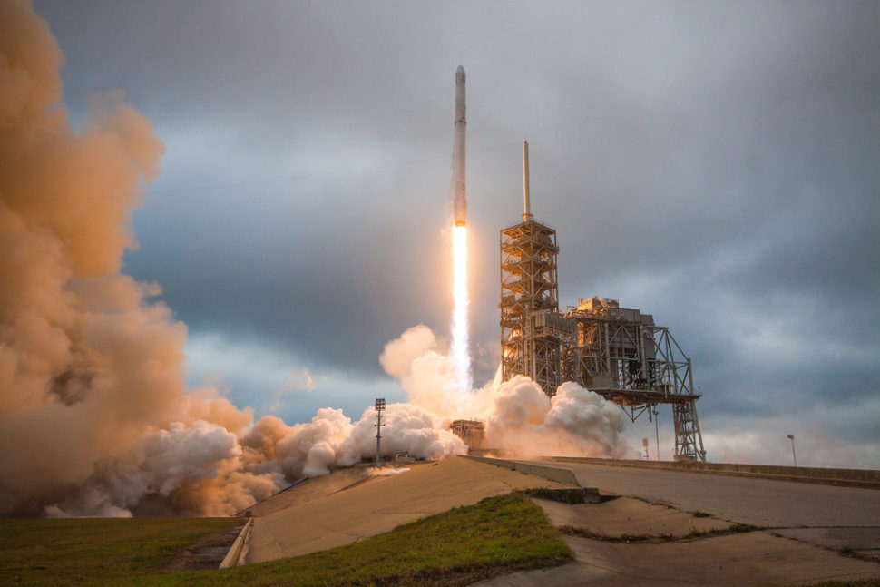 Falcon 9 and Dragon lift off from Launch Pad 39A for CRS-10 | Official SpaceX Photos |  Flickr.com