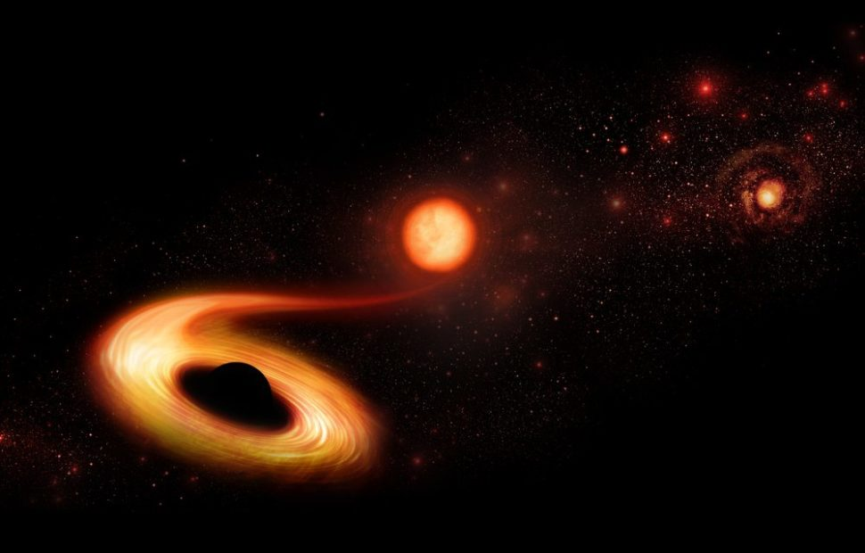 Ultramassive black holes can apparently consume whole stars with ease. | Hallowedland | Shutterstock.com