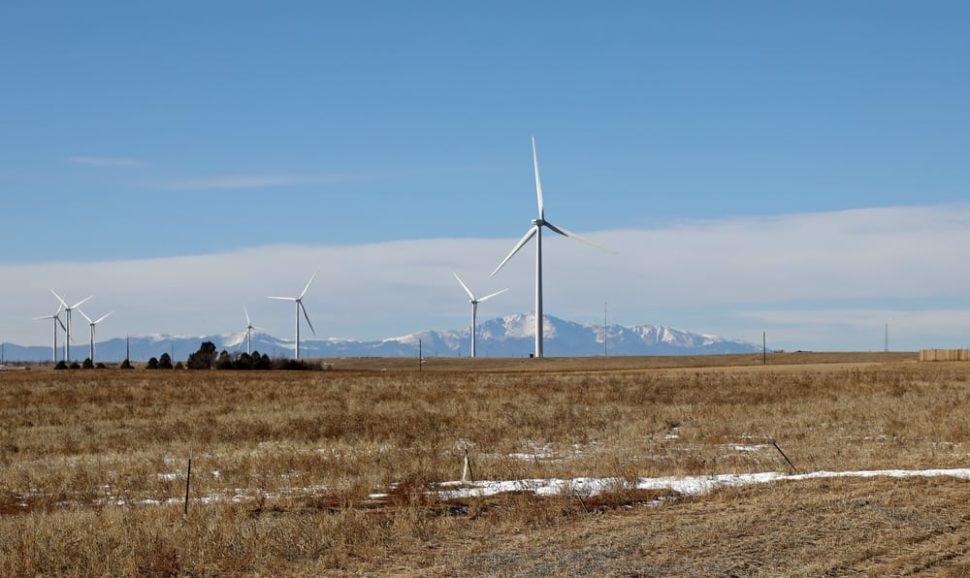 Colorado farmers are now finding financial security in the introduction of wind turbines to their land. | Image by Thomas Barrat | Shutterstock