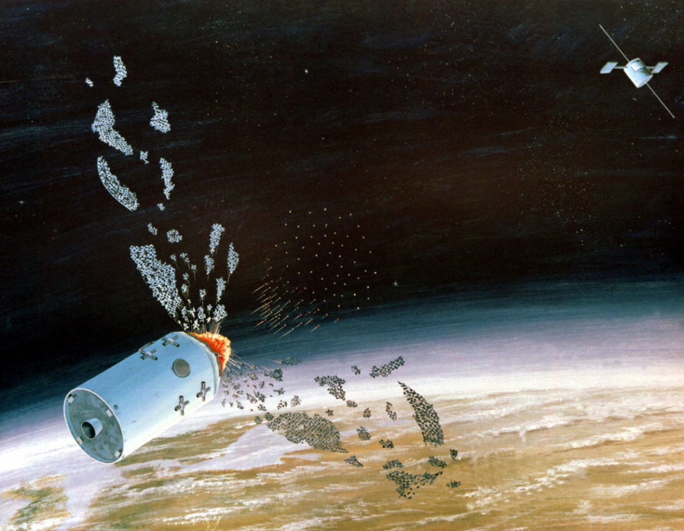 Artist concept an anti-satellite (ASAT) weapon, SDI | defenseimagery.mil