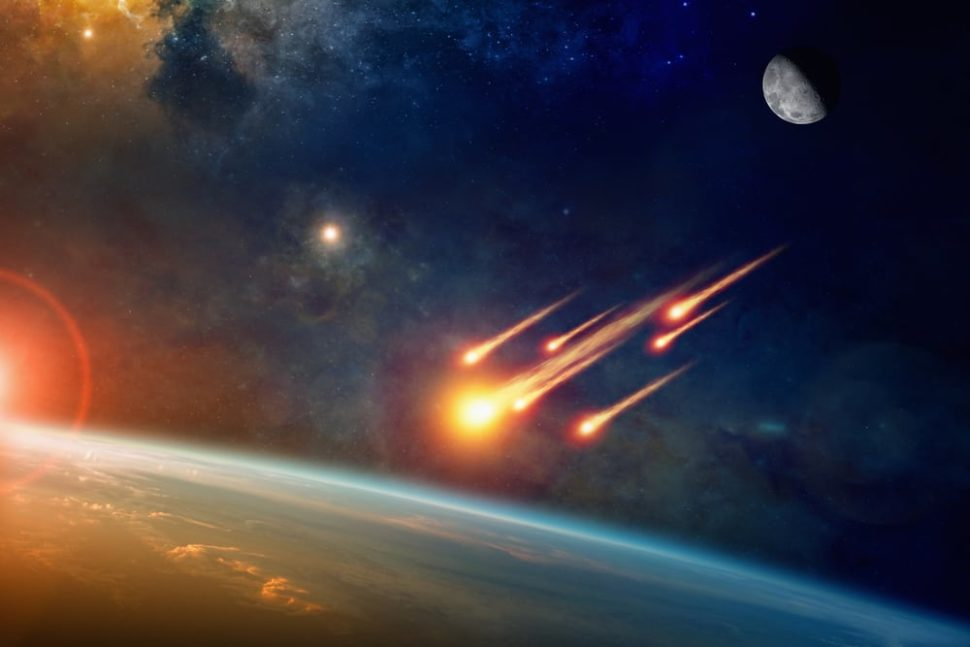 Researchers are now looking towards asteroid impacts to find signs of extraterrestrial life. | Image By IgorZh | Shutterstock