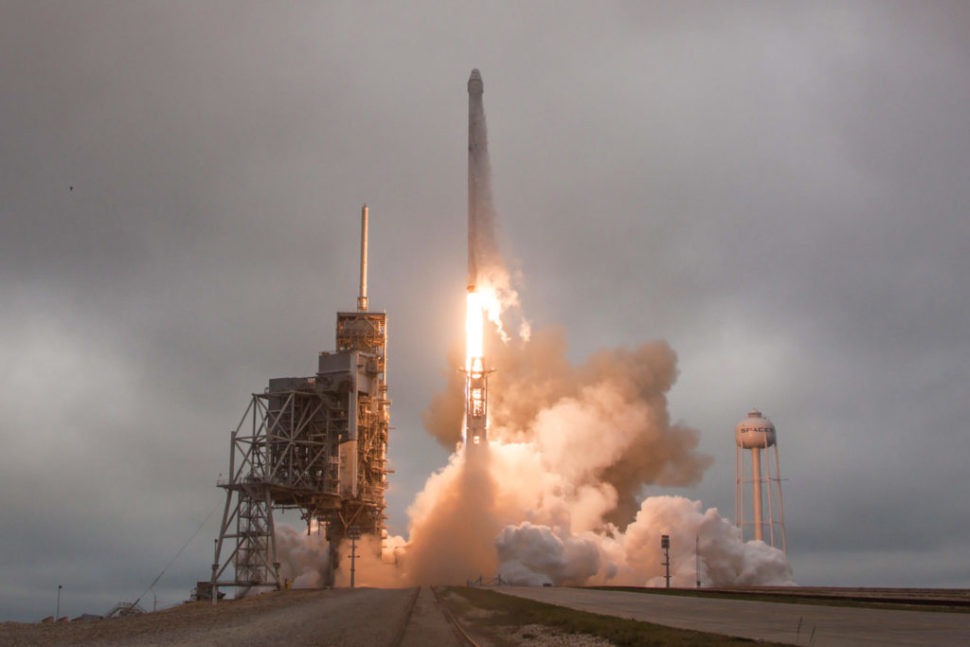 Falcon 9 and Dragon lift off from Launch Pad 39A for CRS-10  | SpaceX