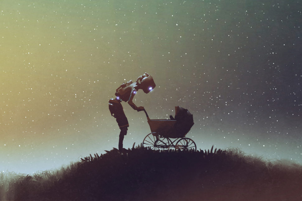 Childcare robots are no longer just a topic of sci-fi. Now, they are ready to become part of the family. | Image By Tithi Luadthong | Shutterstock