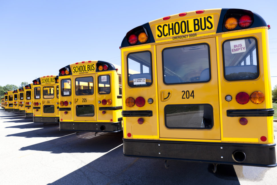 Electric school buses might be one of the simplest ways of reducing carbon emissions in the U.S today. | Image By MaxyM | Shutterstock