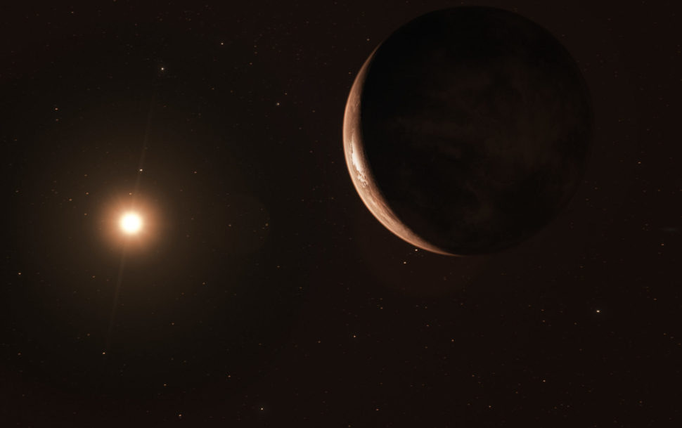 Researchers may have just discovered an exoplanet in our own galactic backyard. | image by ESO M. Kornmesser