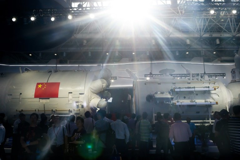 The Tiangong Space Station replica as displayed at the AirShow China | Phys.org