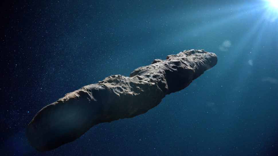 Oumuamua, the strangest object to grace our solar system, may be an alien probe. | Image By Dotted Yeti | Shutterstock