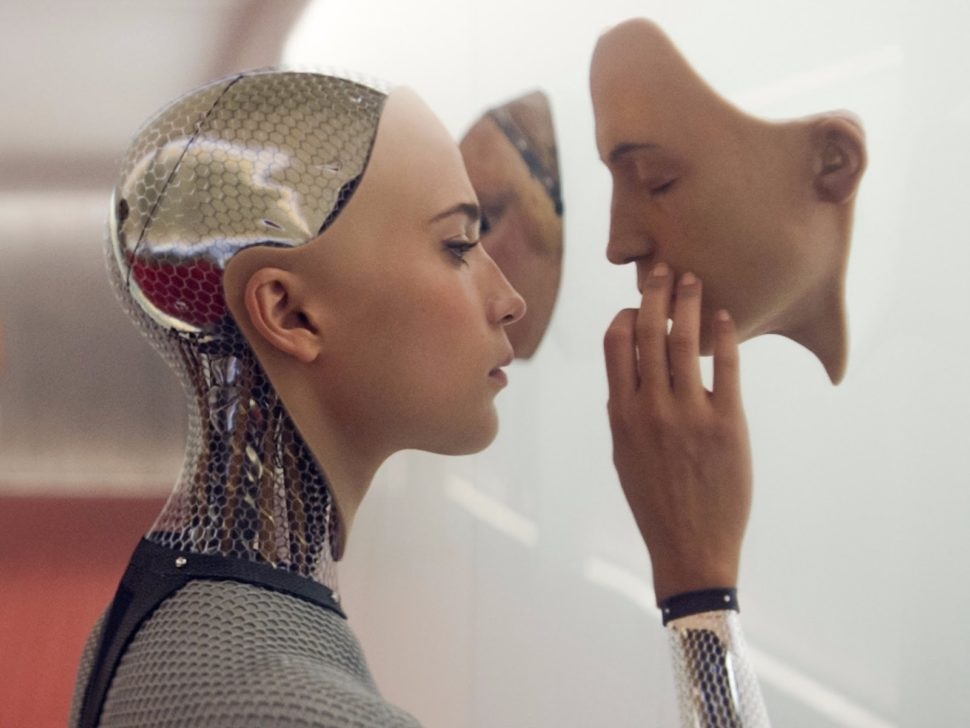 Today, AI is everywhere. But how do movies portray it? Is it accurate? Or just convenient. | Image shot of Ex Machina via Film4 Productions