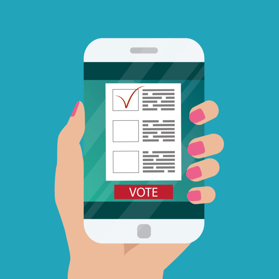 The new Vote With Me app is trying to change how we view voting. | Image By Julia's Art | shutterstock