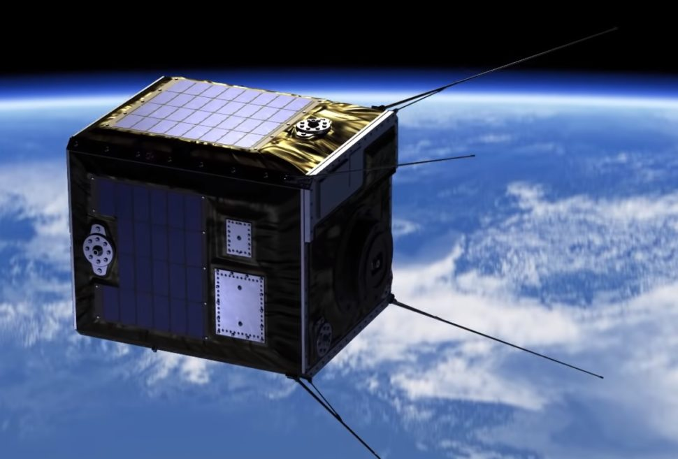 Artist illustration of one of the seven satellites from the Sky Canvas project by Astro Live Experiences | ALE