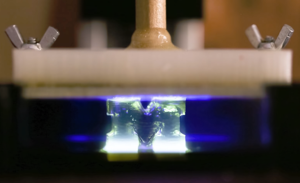 University of Michigan's new 3D printer which uses the vat polymerization technique. | University of Michigan