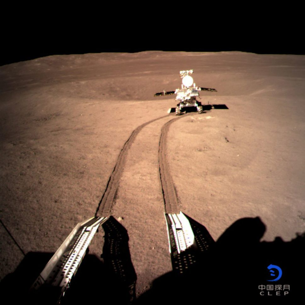 A haunting image of the Moon's surface taken by the Chinese lunar rover | Xinhua News Agency
