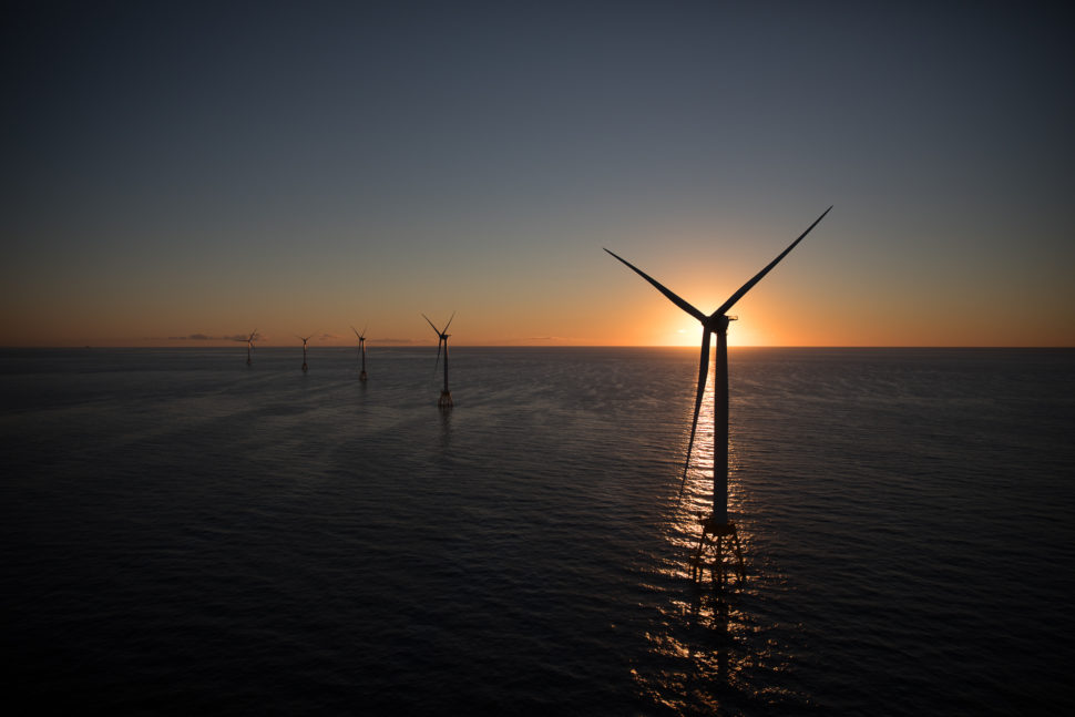 GE's Haliade wind turbines at Deepwater Wind's Block Island Wind Farm in Rhode Island | General Electric Company